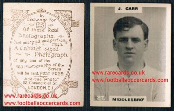 1919 pinnace brown oval back Middlesbrough Carr 27